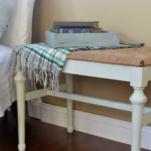 Rustic DIY Woven Bench Transformation
