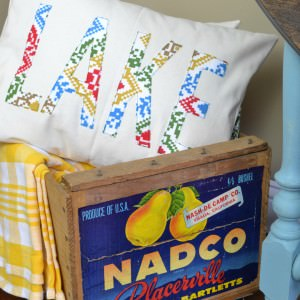 DIY Word Pillows with Vintage Fabric