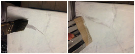 how to make a marble countertop