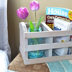 DIY Rustic Farmhouse Crate (from a Thrift Store Find!)
