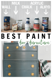 Wondering what type of paint is the best for painting furniture? THIS post has all the answers and compares many different types to give the pros and cons of each.