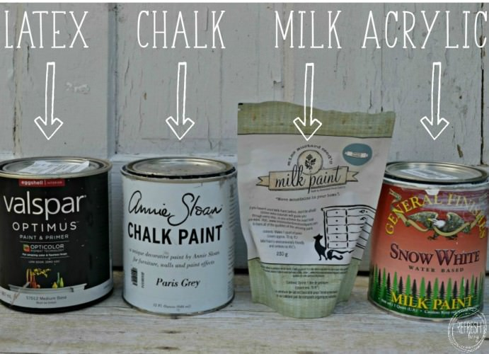 What is the best paint for furniture? | comparison of chalk paint, milk paint, latex paint, and acrylic paint | Best type of paint for furniture