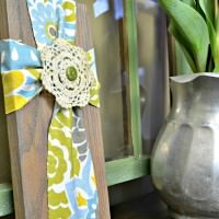 Easy DIY Easter Decoration - Fabric Cross