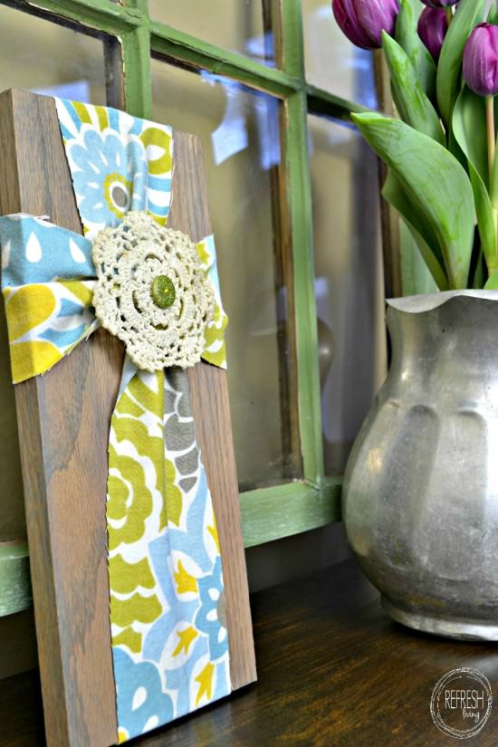diy fabric cross
