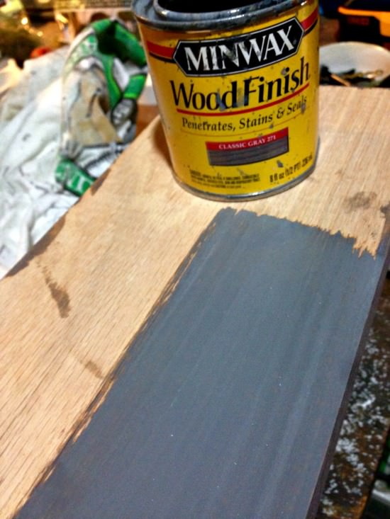 gray stained oak