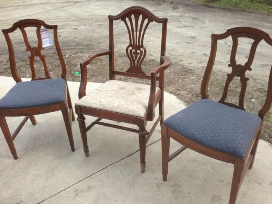 Painted Reupholstered Dining Chairs Mix Match Challenge - Reupholster dining chair