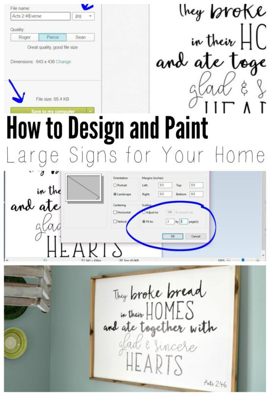 It's easy to make your own personalized wood signs by using a free online photo editing program and transferring the image to paint the letters perfectly. All you'll need is a computer and printer!!