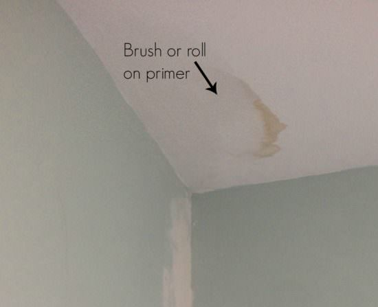 How To Paint A Water Stained Ceiling