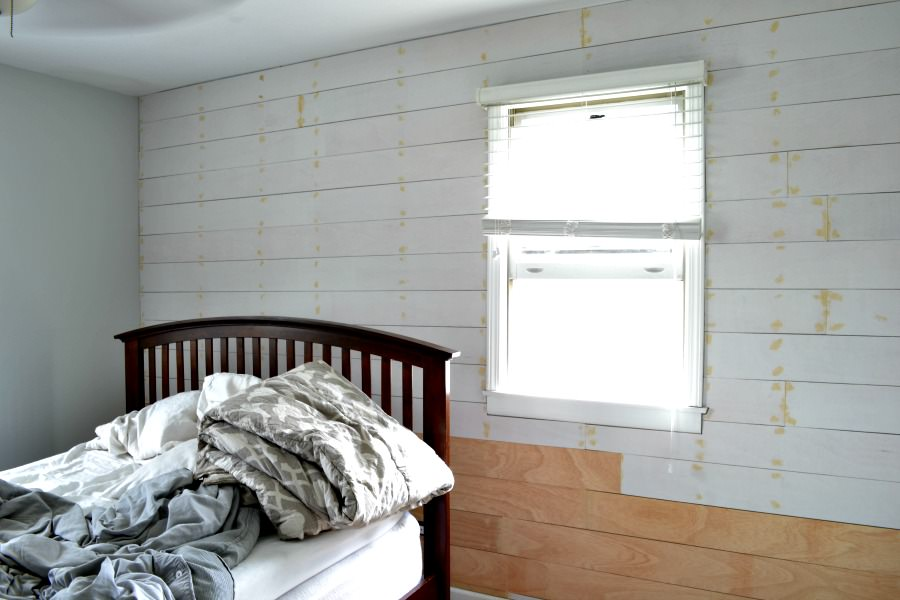 Installing a shiplap plank wall on a budget orc week 3 - How to install shiplap on interior walls ...