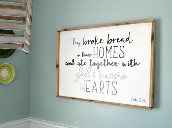 How To Make A Wood Sign With A Custom Quote And Wood Frame Refresh