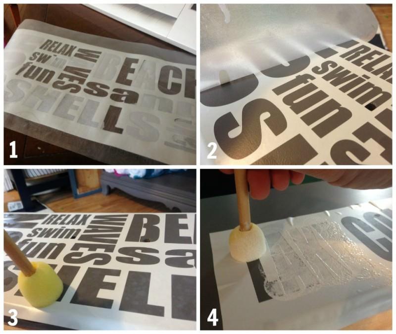 How to stencil words on a dresser | Subway art on a dresser