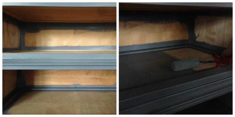 how to refinish a dresser without drawers