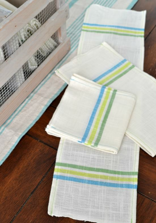 reuseable napkins | how to go paperless in the kitchen