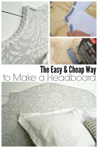 It's easy to make a custom headboard with plywood and a decorative stencil. What a great way to change up bedroom decor without spending a lot of money!