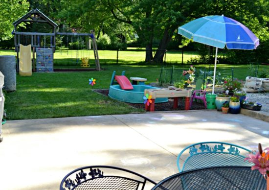 backyard for toddlers and young kids