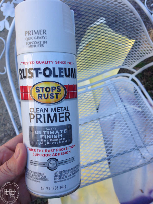 How To Spray Paint Outdoor Chairs With Rust 3