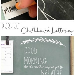 This trick for making perfect letters on a chalkboard is so easy; I wish I knew about it before! My lettering on the chalkboard in my house will actually look nice now!