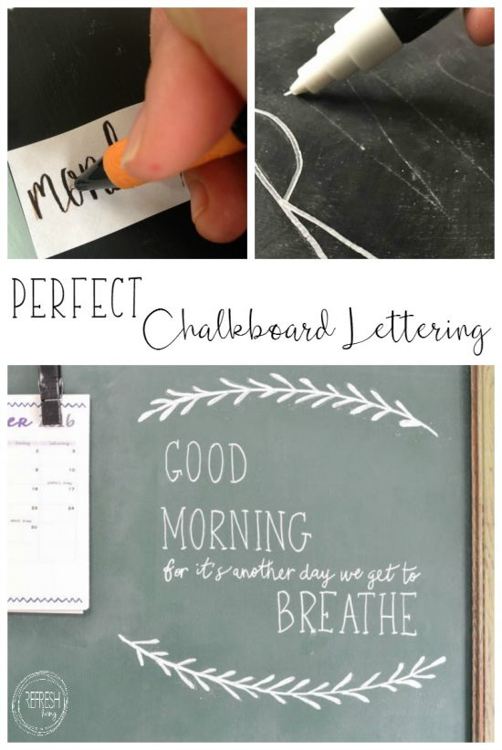 how to write perfect letters on a chalkboard refresh living