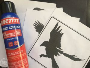 DIY flying bird silhouettes for Halloween