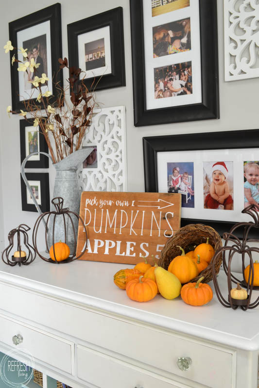This DIY fall sign is an easy way to add rustic charm to your fall decor. By using the free graphic and easy graphic transfer technique, anyone can make this sign for their home!-1