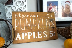 This DIY fall sign is an easy way to add rustic charm to your fall decor. By using the free graphic and easy graphic transfer technique, anyone can make this sign for their home!