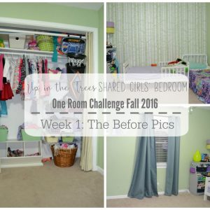 Girls Shared Bedroom: The Before Pics | One Room Challenge (Week 1)