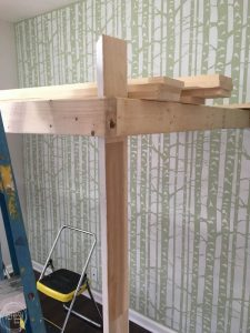 It's easy to build a lofted bed with simple pine boards. It adds space to a room - perfect for shared kids' bedrooms!