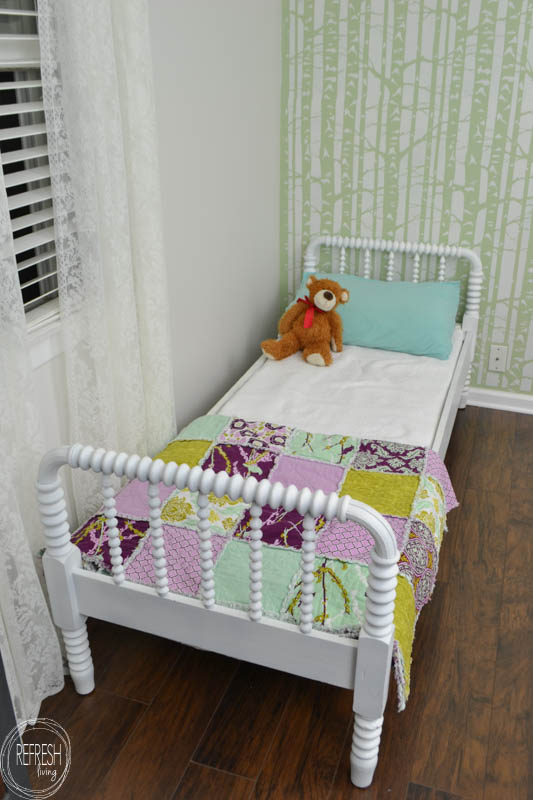Painted Antique Spindle Bed With Custom Diy Mattress To Fit An 1