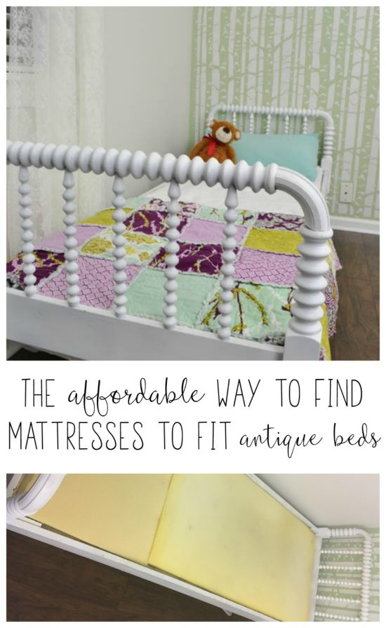 Finding a mattress to fit an antique bed is not easy! This solution lets you make a mattress to fit an antique bed, in any size! It's easy and budget friendly.