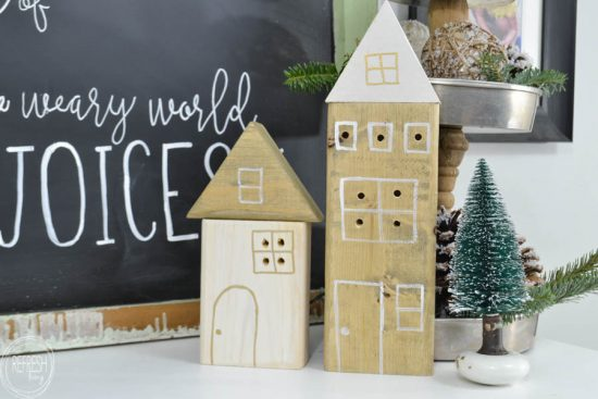 what a great idea to use up leftover scrap wood this diy christmas village looks