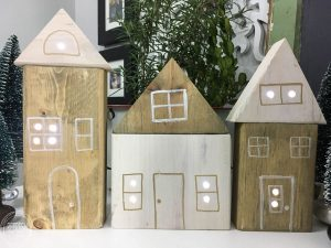 What a great idea to use up leftover scrap wood. This DIY Christmas village looks so easy to make.