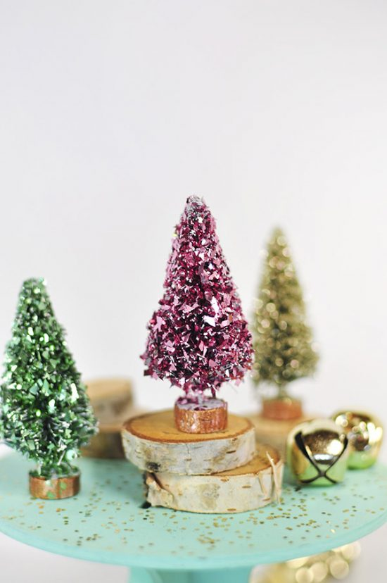 I love all these uses of bottle brush trees! They can be changed to fit your style and added to so many different places in your home!