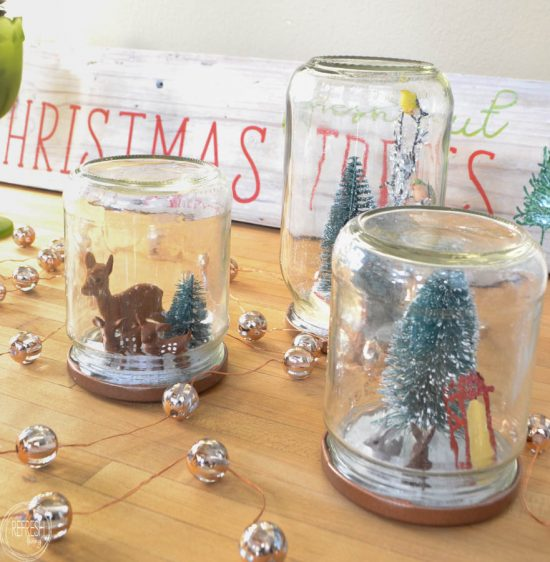 Reuse Glass Jars To Make Christmas Snow Globes Refresh Living