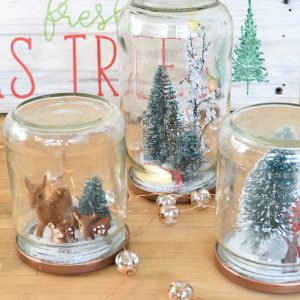 Reuse Glass Jars to Make Christmas Snow Globes