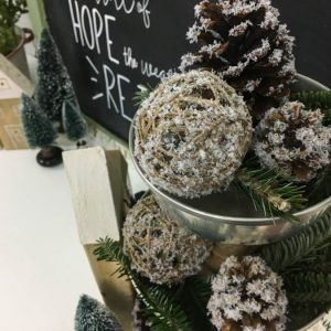 DIY Snow Covered Christmas Decor | Create with Me Challenge