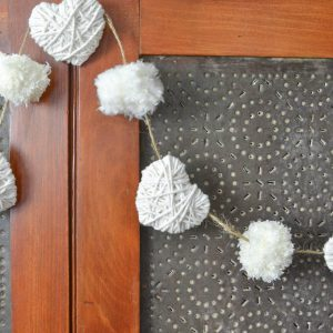 This would be such an easy way to decorate for Valentine's Day. I love the neutral colors!