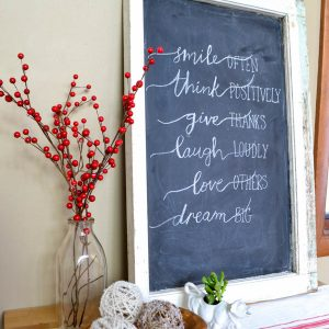The Best Way to Paint a Window Chalkboard
