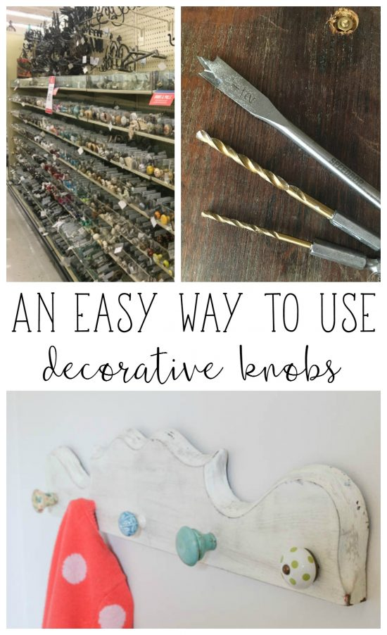 Finally! An easy way to use those pretty knobs from Hobby Lobby to make a hanging rack.