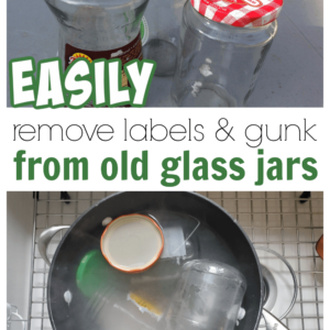 Such an easy way to remove labels and glue from glass food jars.