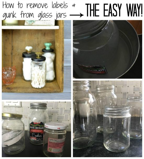 Finally, an easy way to remove stubborn, sticky labels and residue from glass jars! Best of all, this method uses common household products.