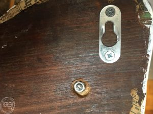 All the details you will need to create a recessed hole for installing decorative knobs on a piece of wood.