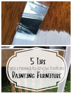 I wish I had known these 5 tips for painting furniture before I started painting! They would be helpful for anyone wanting to paint a piece of furniture.
