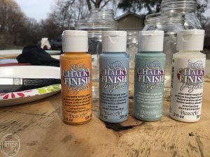Finally! This chalk paint can be used on glass and will not wash off with water.
