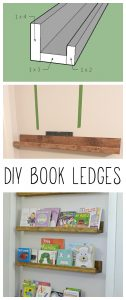 What a great way to use wasted space behind a door! These shelves are cheap and easy to build.