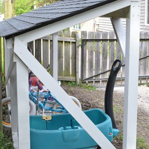 DIY Backyard Bike Storage with an Easy to Install Roof