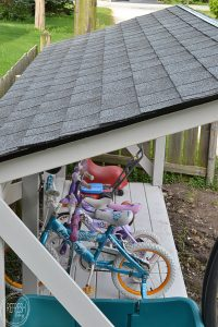 It's easy to install a new roof on a backyard structure like a shed, playhouse, or lean-to. #roofeditmyself #shop