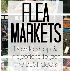 How to Shop Flea Markets for Cheap Home Decor