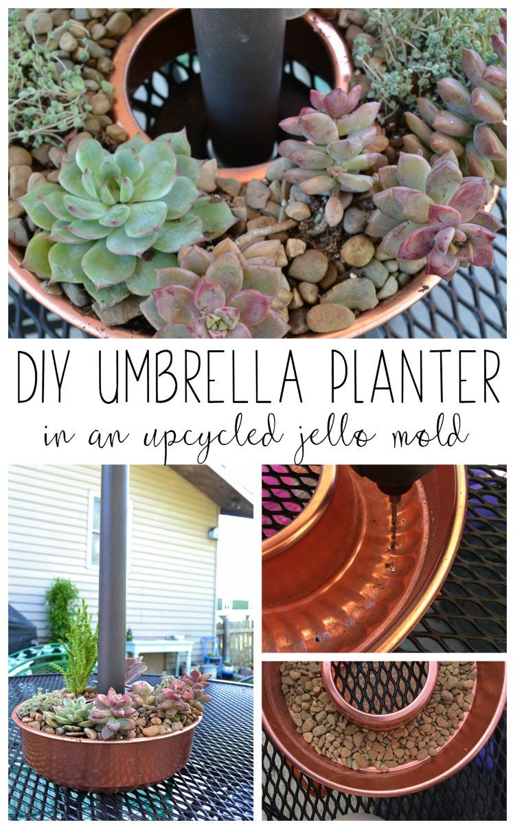 Diy Umbrella Planter In An Upcycled Jello Mold Refresh Living