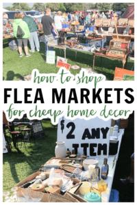 flea market booth with unique home decor items