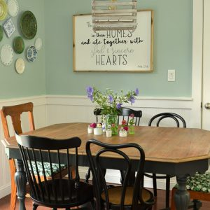 Eat-In Kitchen Makeover Reveal: $100 Room Challenge